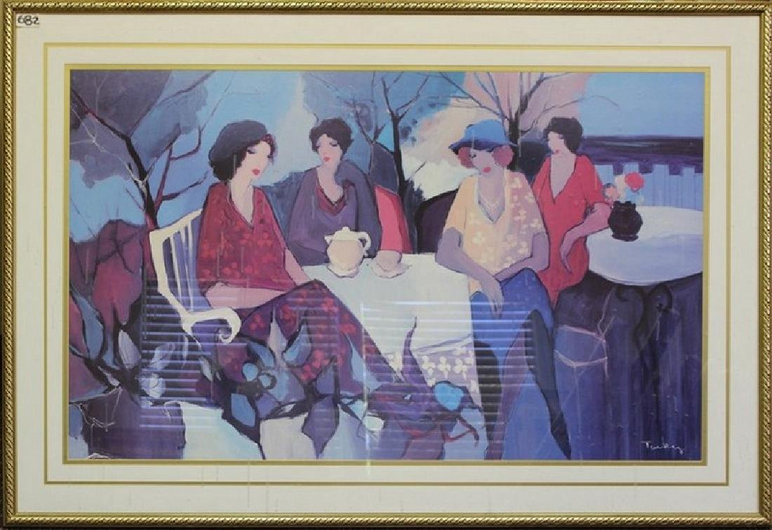 Garden Party - Lithograph by Tarkay