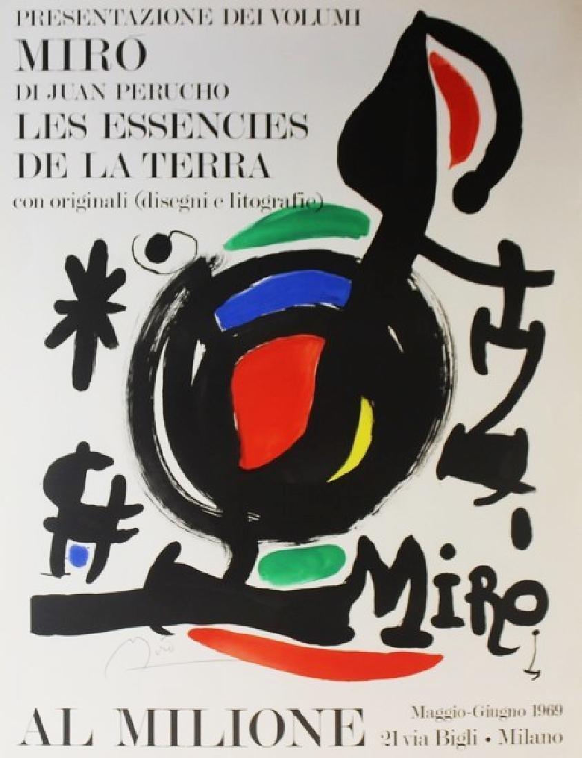 Original Joan Miro Al Milione 1969