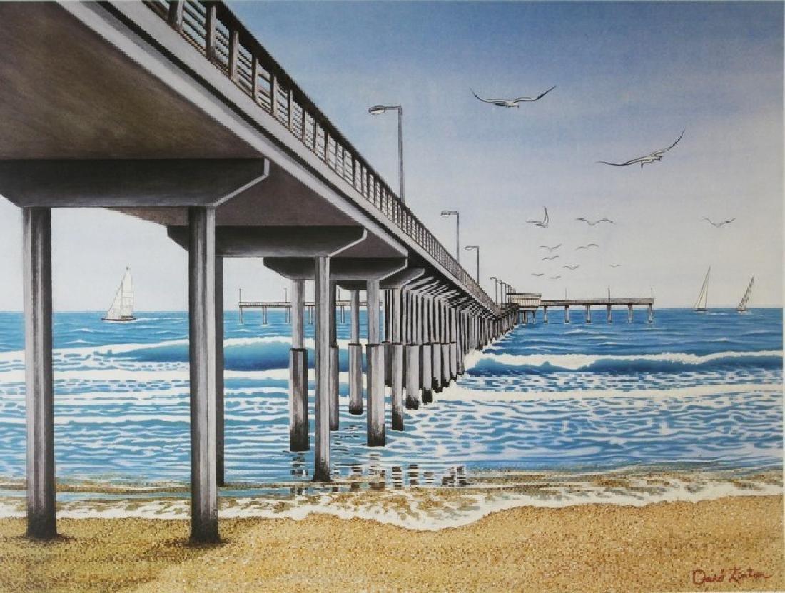 Hand Signed David Linton - Daytime Pier