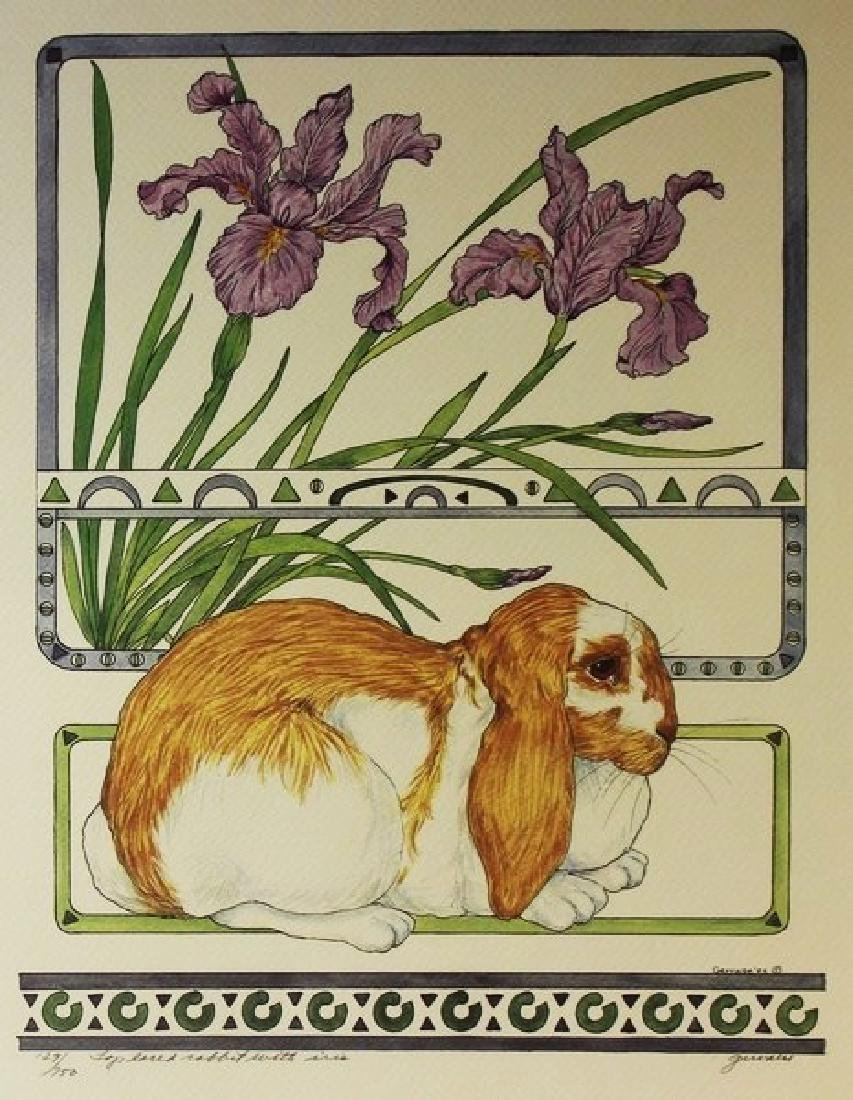 Hand Signed Ltd Ed Gervaise Rabbit with Iris