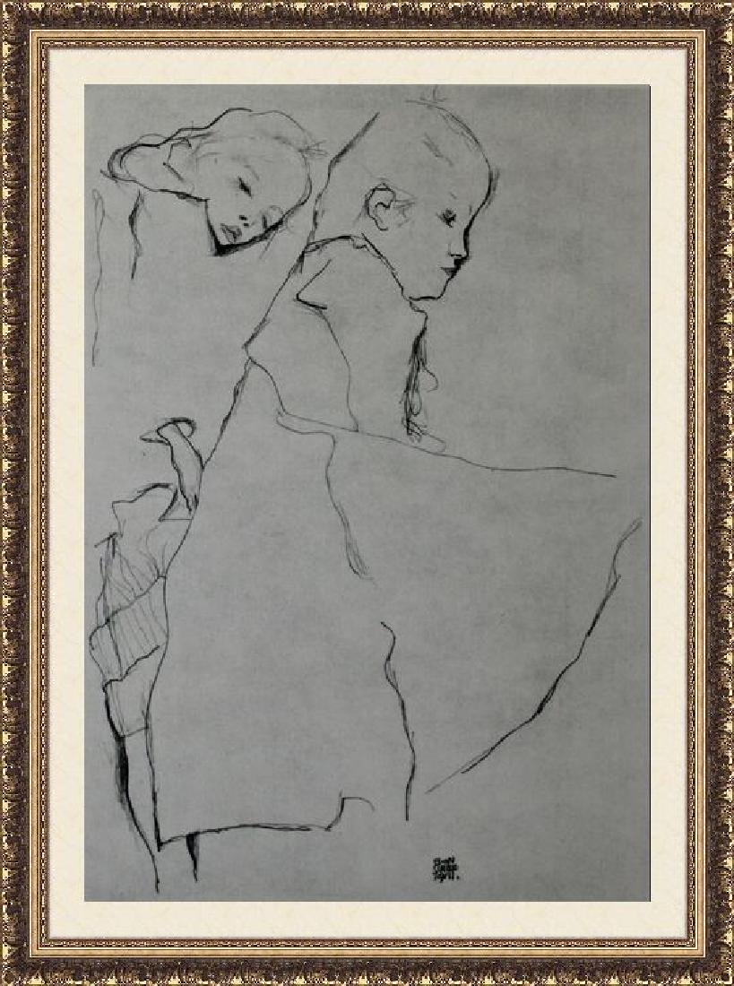 Lithograph Egon Schiele - Sleeping Girl