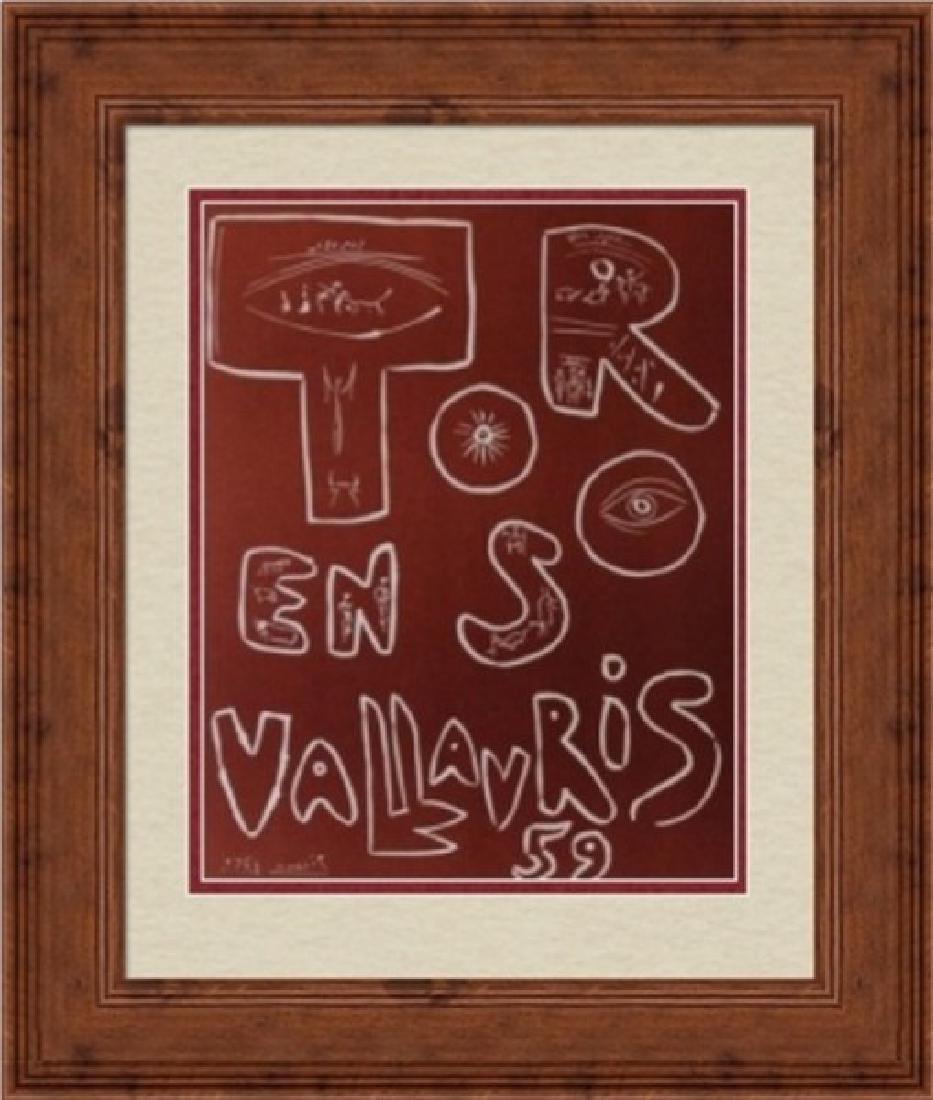 Lithograph Pablo Picasso Toros En Vallauris 59
