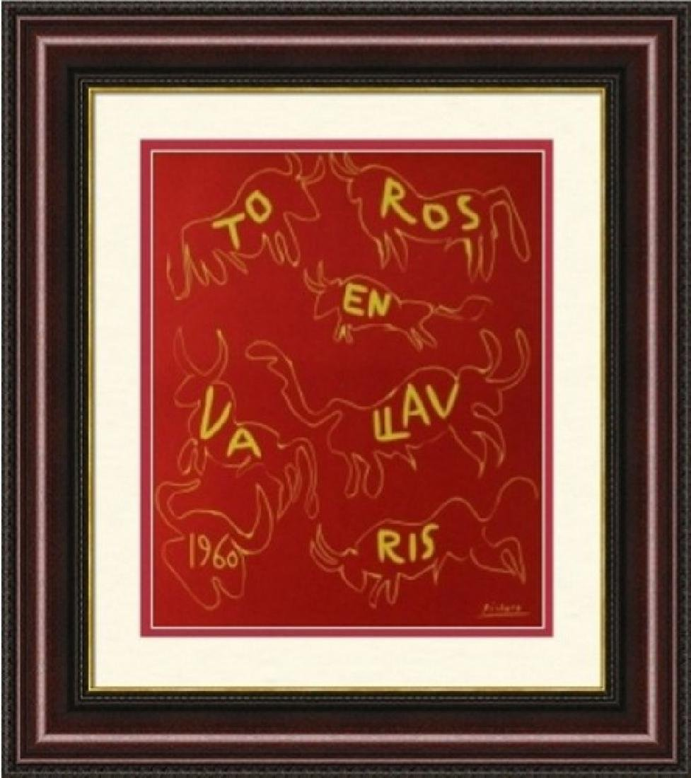 Lithograph Pablo Picasso Toros En Vallauris 60