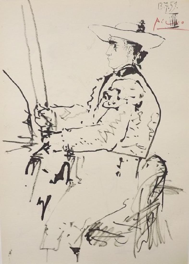 Signed Pablo Picasso Toros y Toreros Lithograph - 2