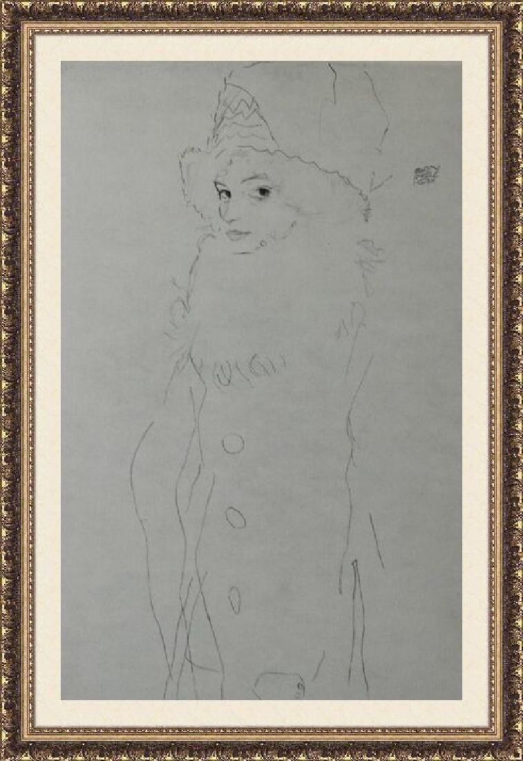 Lithograph Egon Schiele - Bildnis Gerti 1911