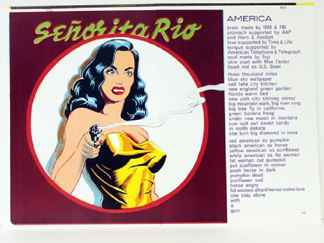 Original Lithograph Mel Ramos - Senorita Rio