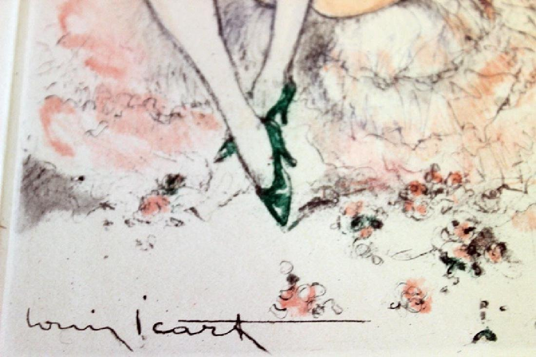 Signed Original Louis Icart Etching Felicia in Pink - 2