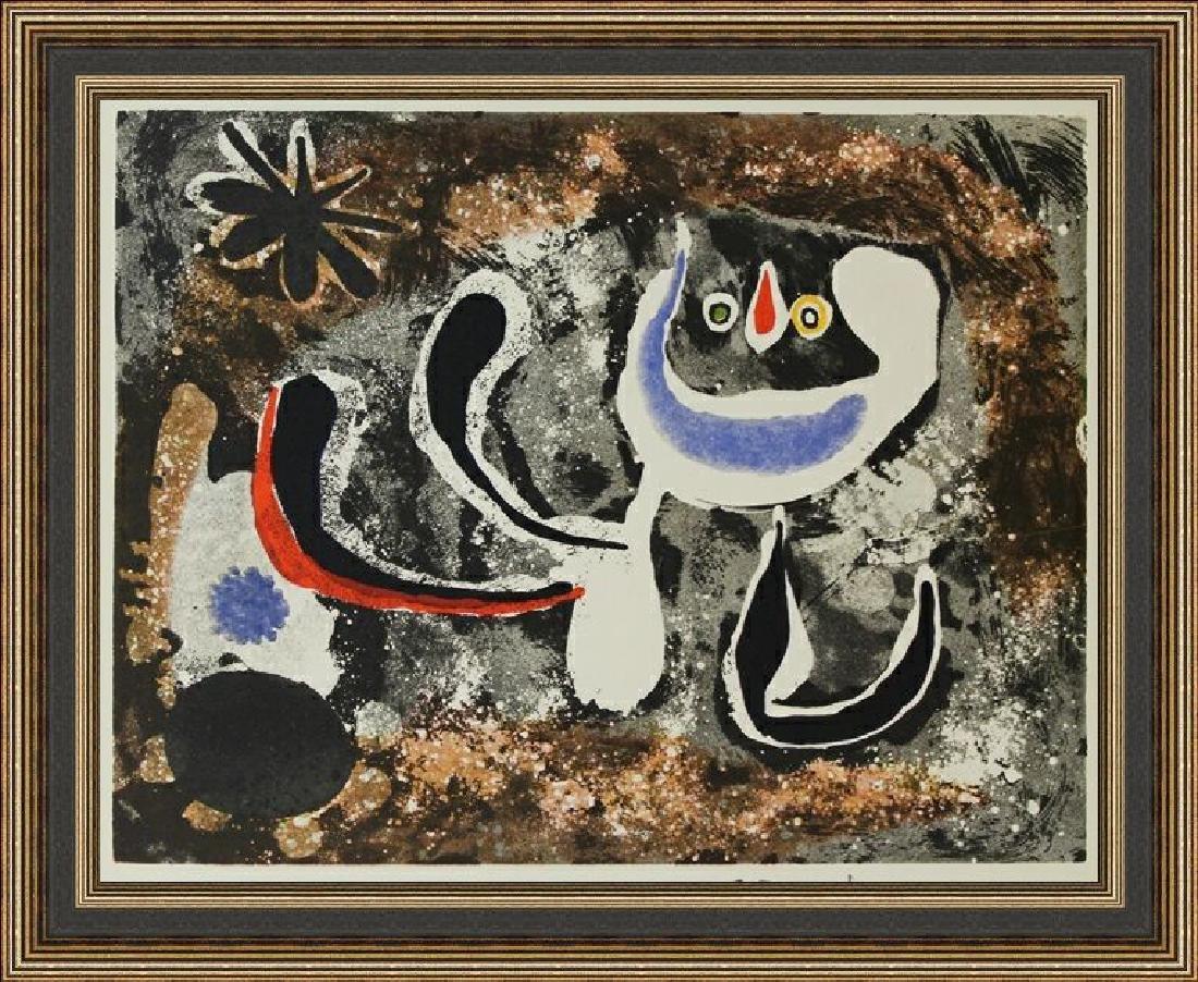 Rare Color Lithograph by Joan Miro