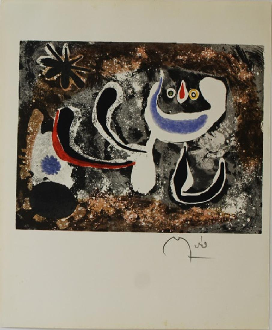 Rare Color Lithograph by Joan Miro - 2