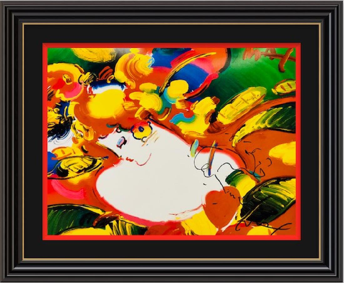 Signed Peter Max Mixed Media