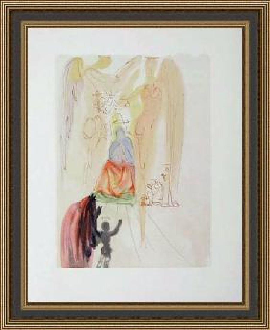 Salvador Dali Woodblock - The Garden of Christ