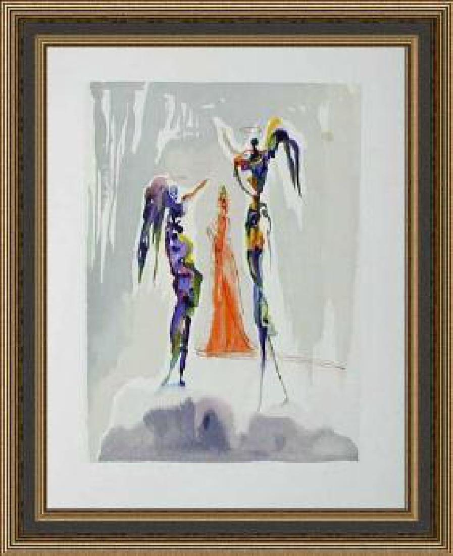 Salvador Dali Woodblock - The Angels of the Empyrean