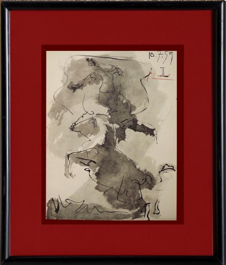 Signed Pablo Picasso Toros y Toreros Lithograph