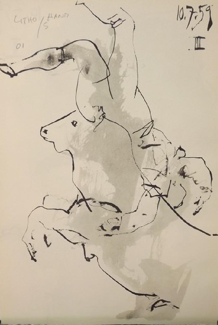 Signed Pablo Picasso Toros y Toreros Lithograph - 3