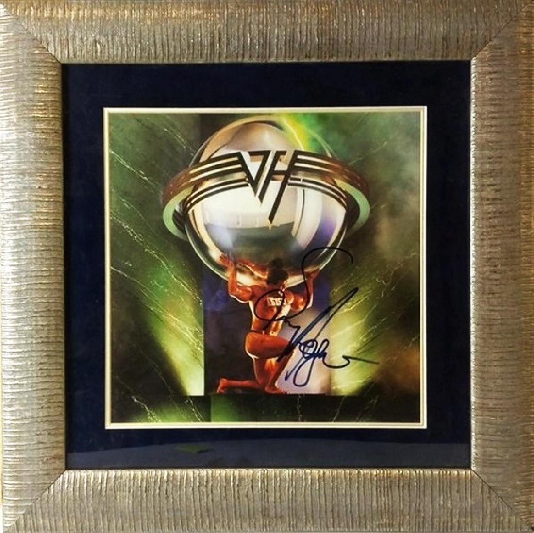Van Halen  - Signed 5150 Album Cover Photo
