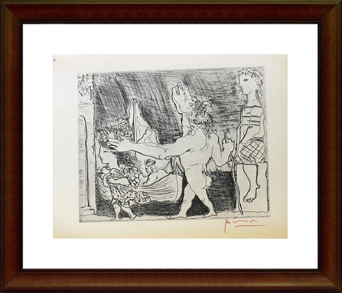 Signed Pablo Picasso Vollard Suite Lithograph