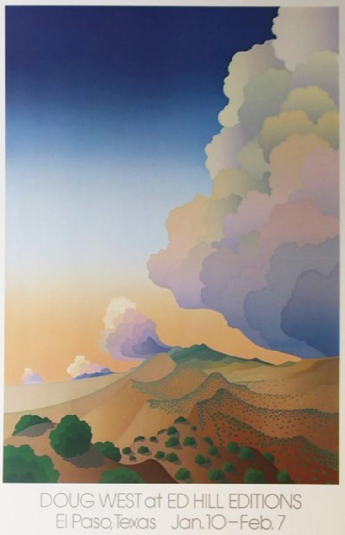 Lithograph Doug West - El Paso TX Hills