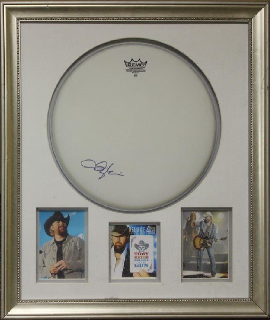 Toby Keith signed DrumHead