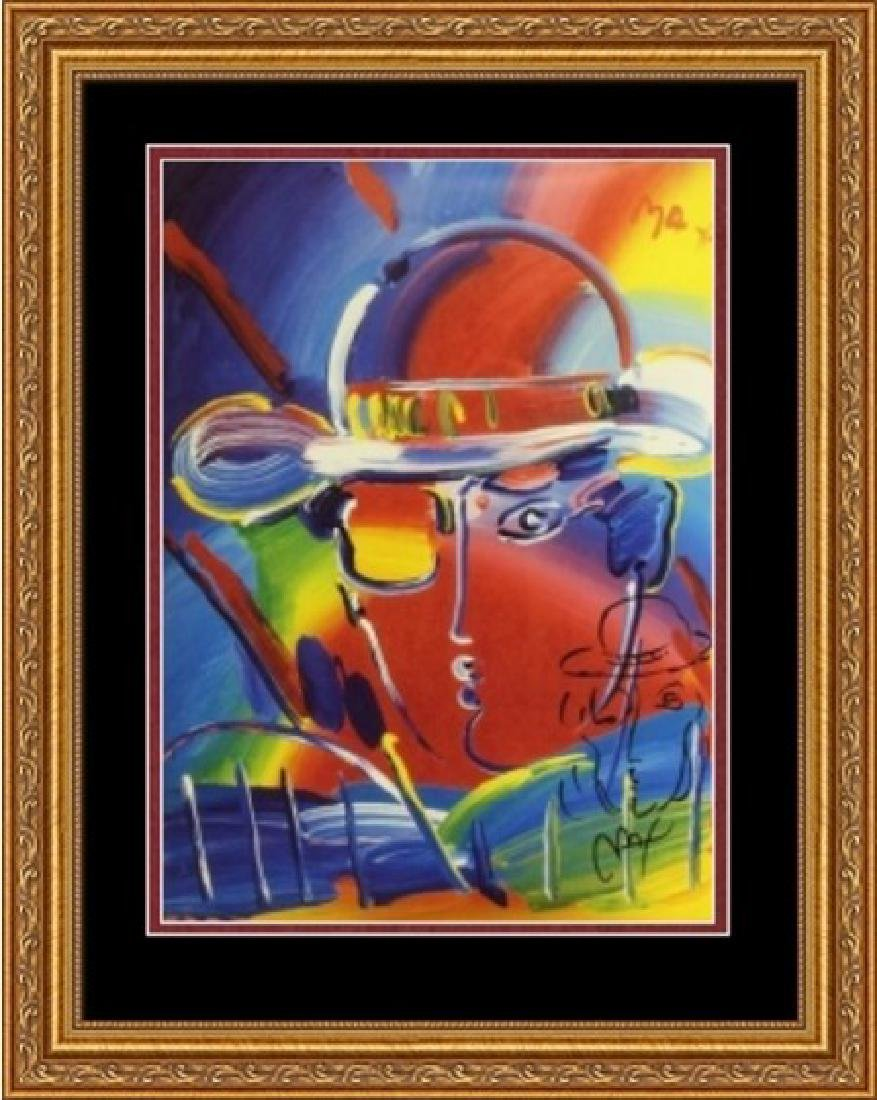Hand Signed Peter Max Mixed Media - Man