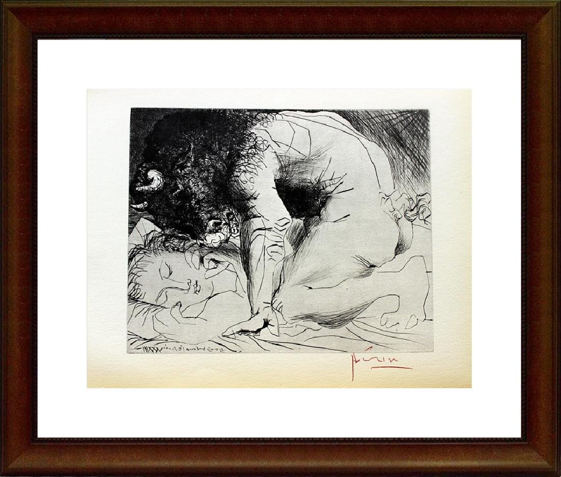 Signed Pablo Picasso Vollard Suite Lithograph