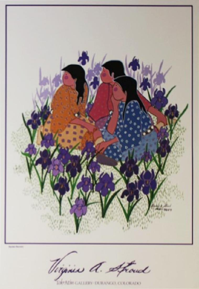 Signed Lithograph Virginia Stroud - Garden Secrets