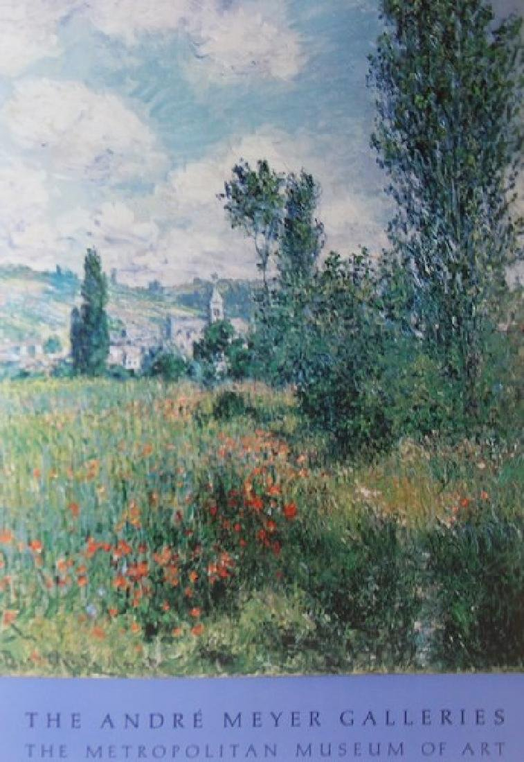 Signed Claude Monet - Path in the Saint Martin Vetheuil