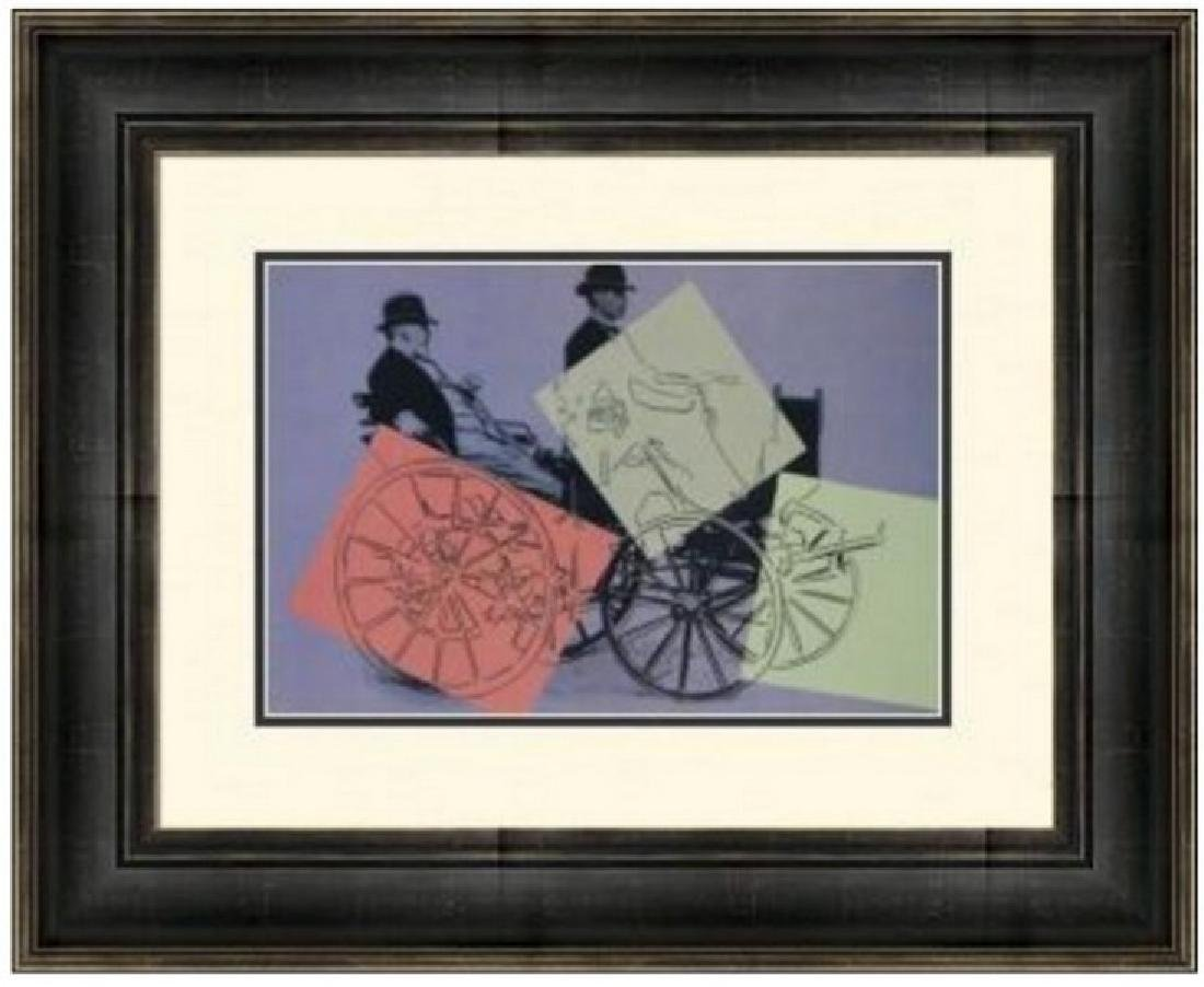 Lithograph by Andy Warhol - Daimler Motor Carriage
