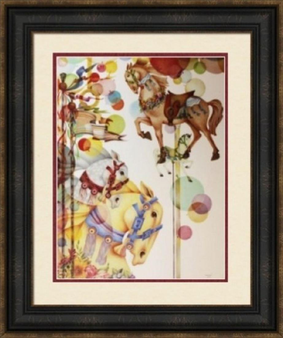 Signed Lithograph Doug Robinson - Summer Carousel
