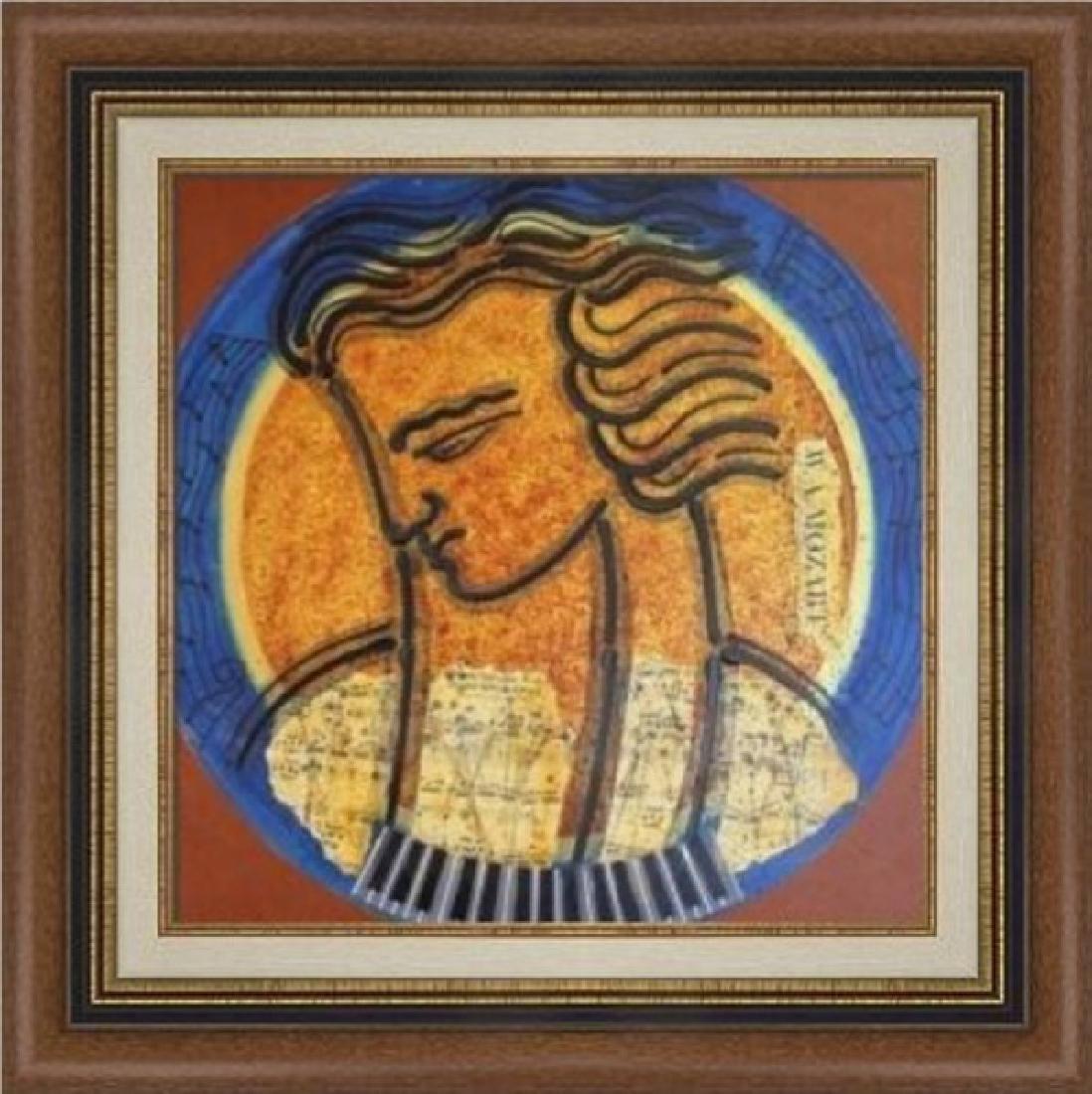 Mozart - Original Acrylic by Gaylord