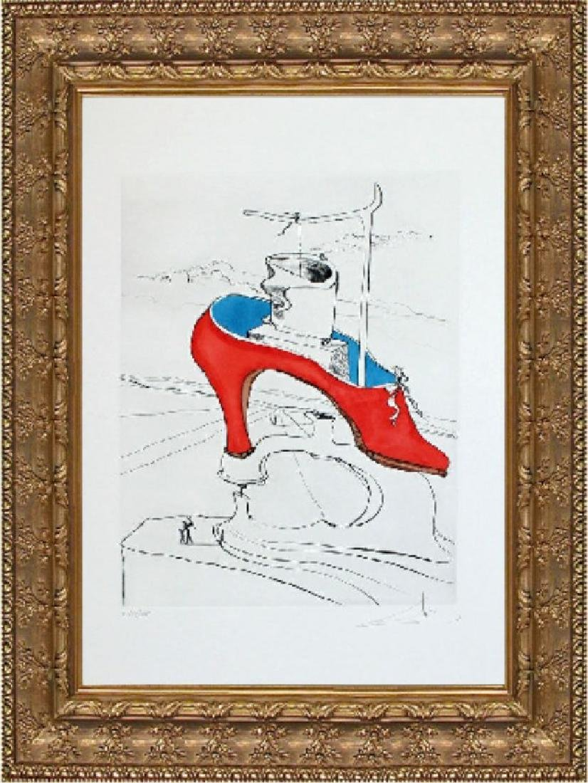 Hand Signed Ltd Etching Salvador Dali