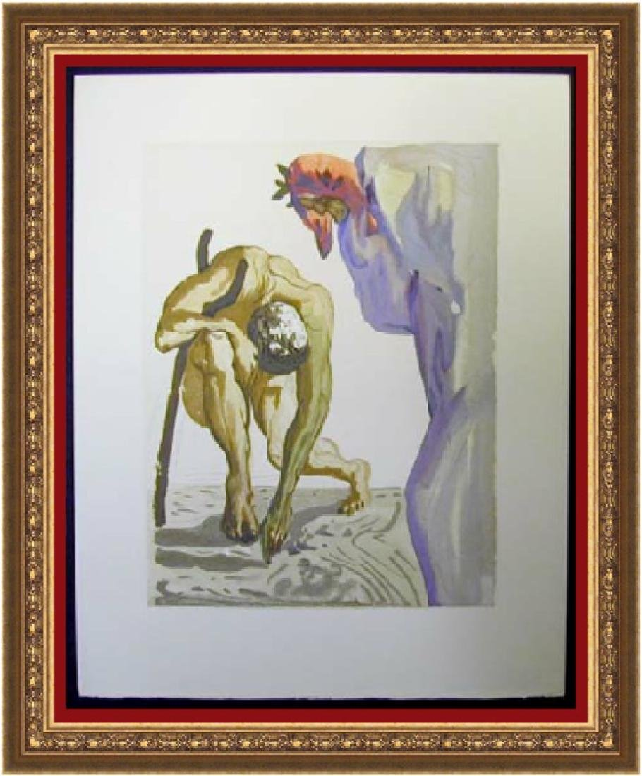 Salvador Dali Woodblock - The Law of climbing