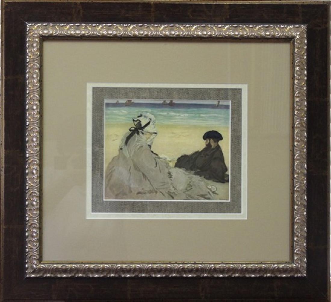 On The Beach 1873' - Edouard Manet