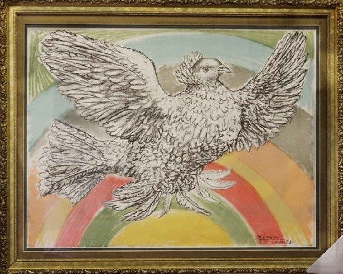 Dove Flying w/ Rainbow 52' - Picasso