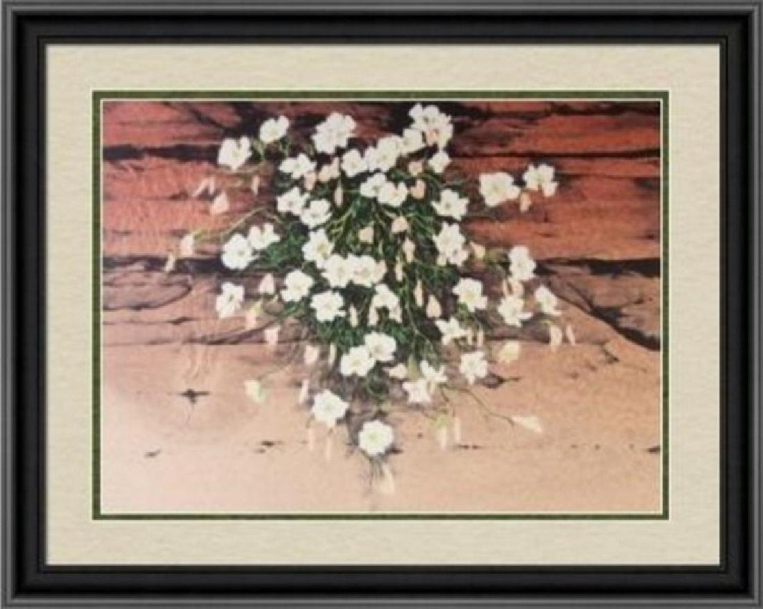 Hand Signed Ltd Ed Lithograph Flowers