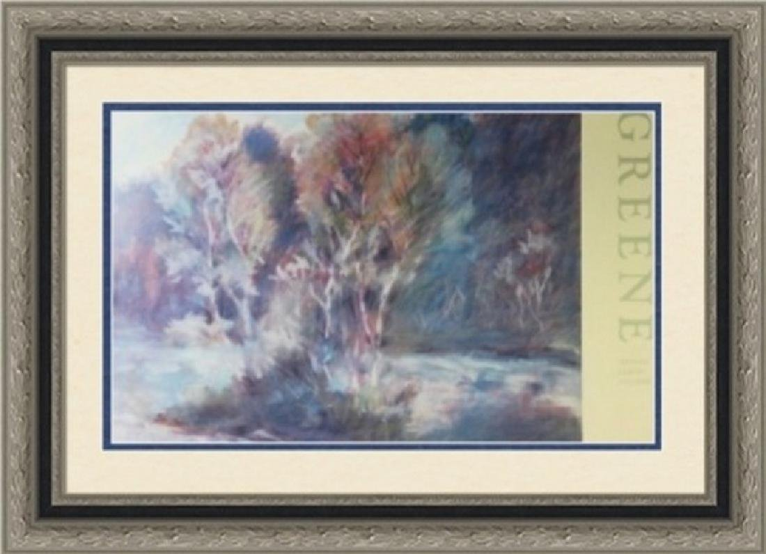 Signed Lithograph Thomas Greene - Birch Tao 87