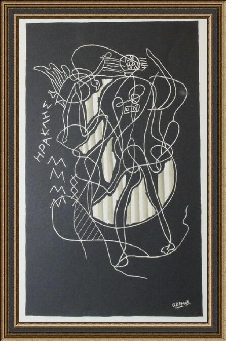 Lithograph Georges Braque - Hercules