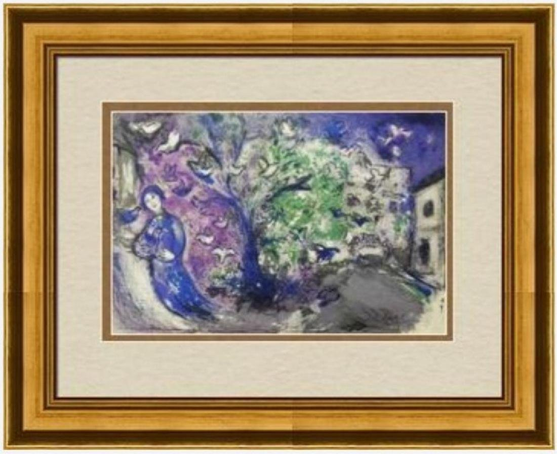 Large Signed Marc Chagall Lithograph