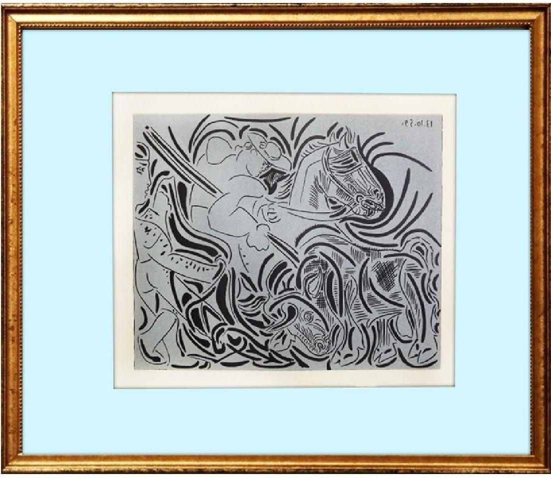 Signed Picasso Linocut Pique