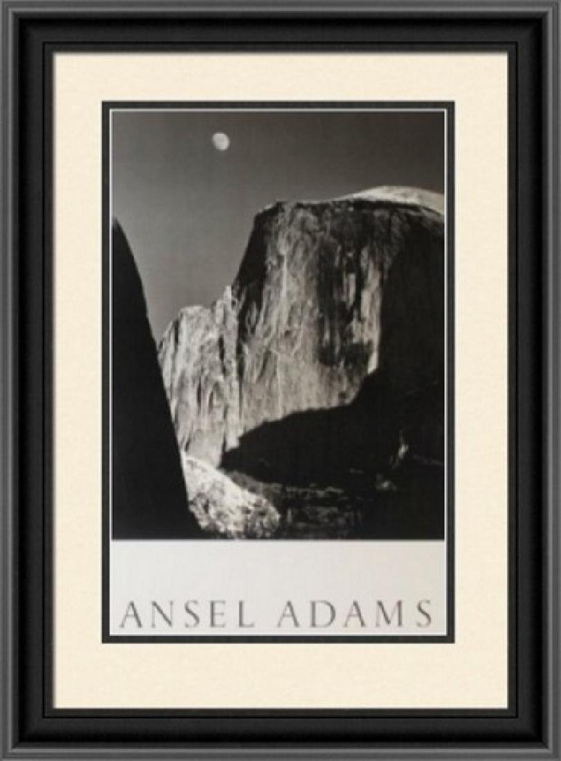 Lithograph Ansel Adams - Moon and Half Dome