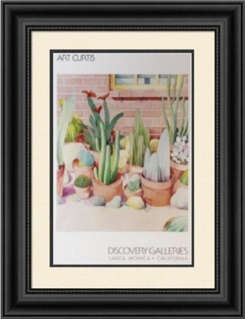 Signed Lithograph Art Curtis - Cactus