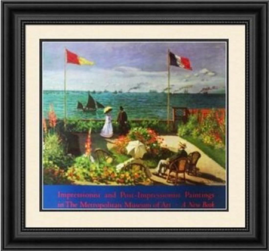 Signed Offset Lithograph Claude Monet Metro Museum of