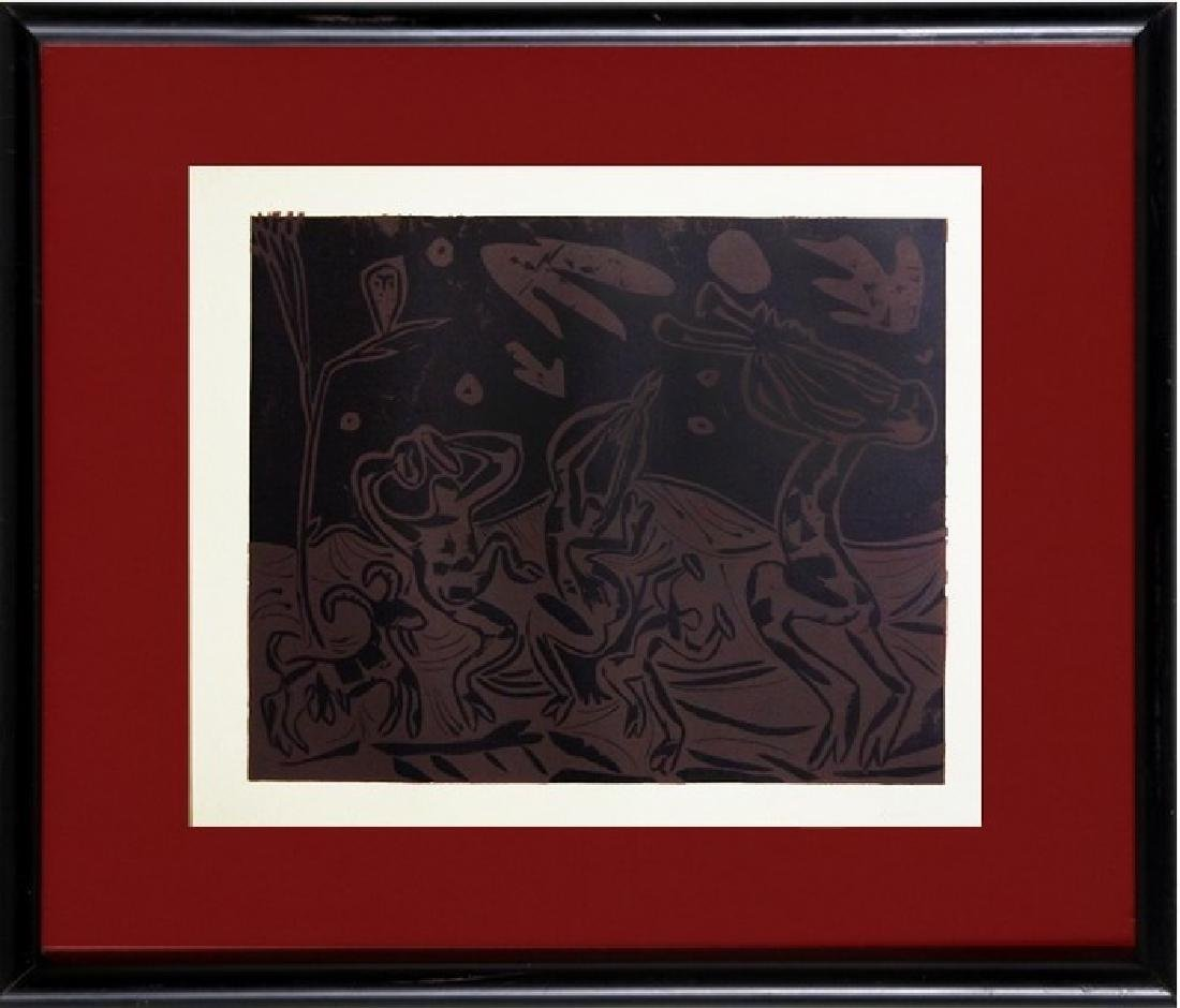 Signed Picasso Linocut