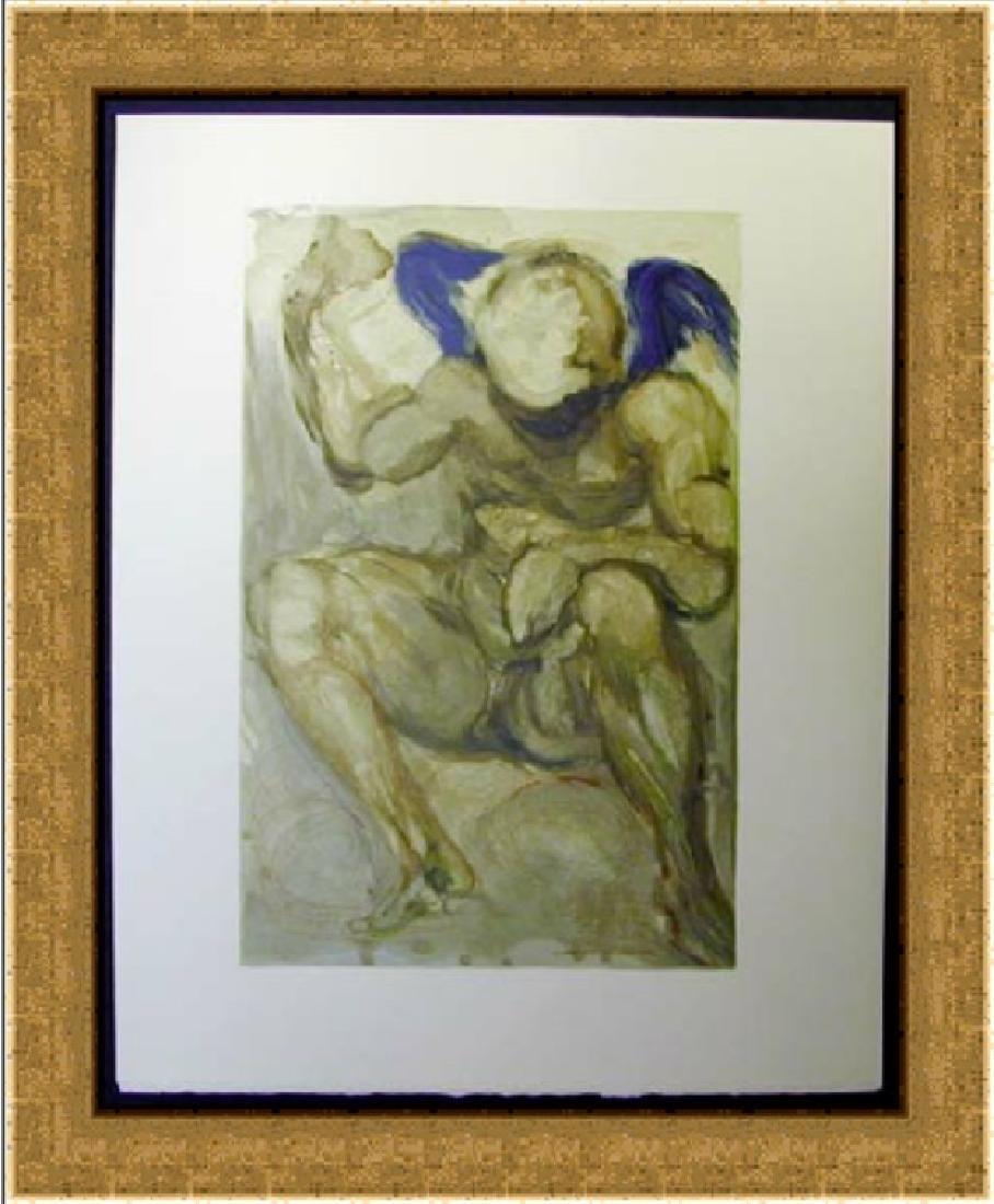 Salvador Dali Woodblock - The Angel of Mercy