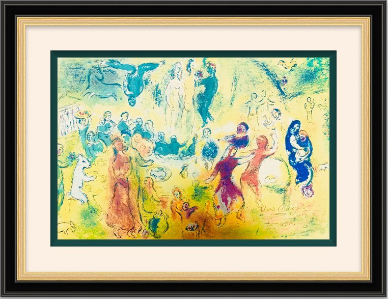 Large Lithograph by Marc Chagall