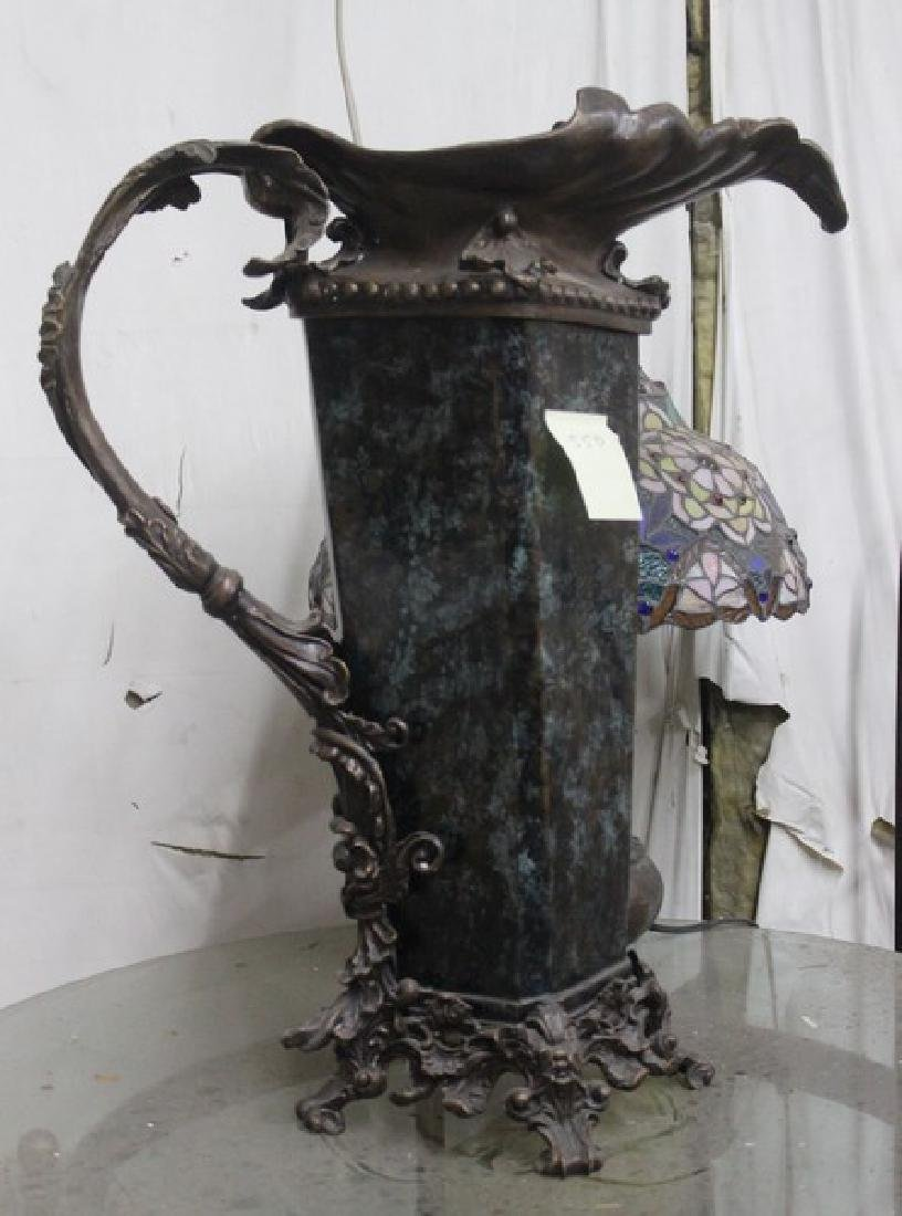 Bronze & Glass Vase