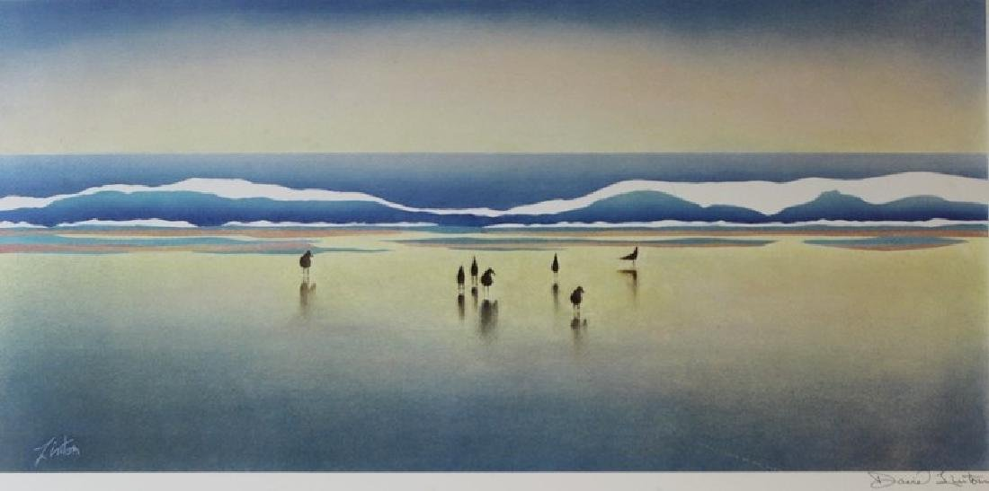 Hand Signed Lithograph David Linton - Late Afternoon