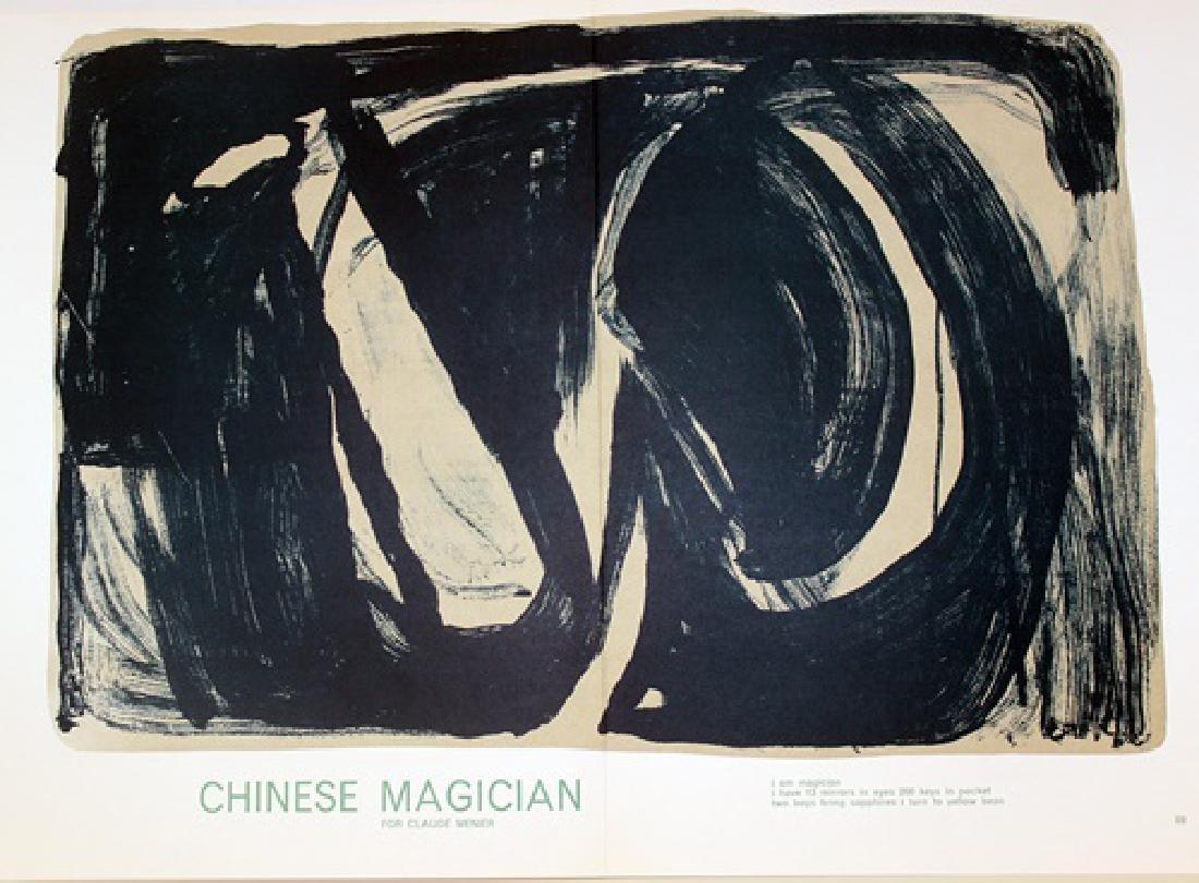 Original Lithograph Bram Van Velde - Chinese Magician