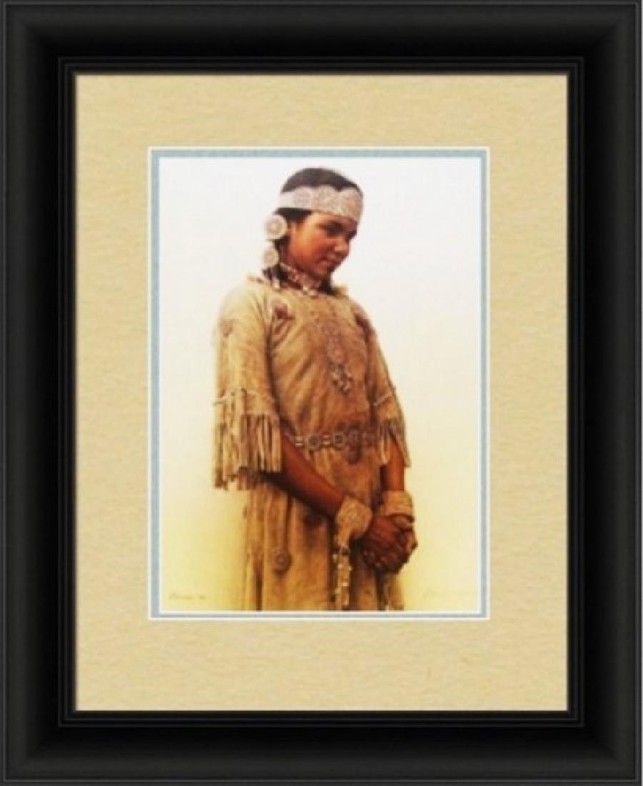 Little Fawn-Cree Indian Girl - JamesBama