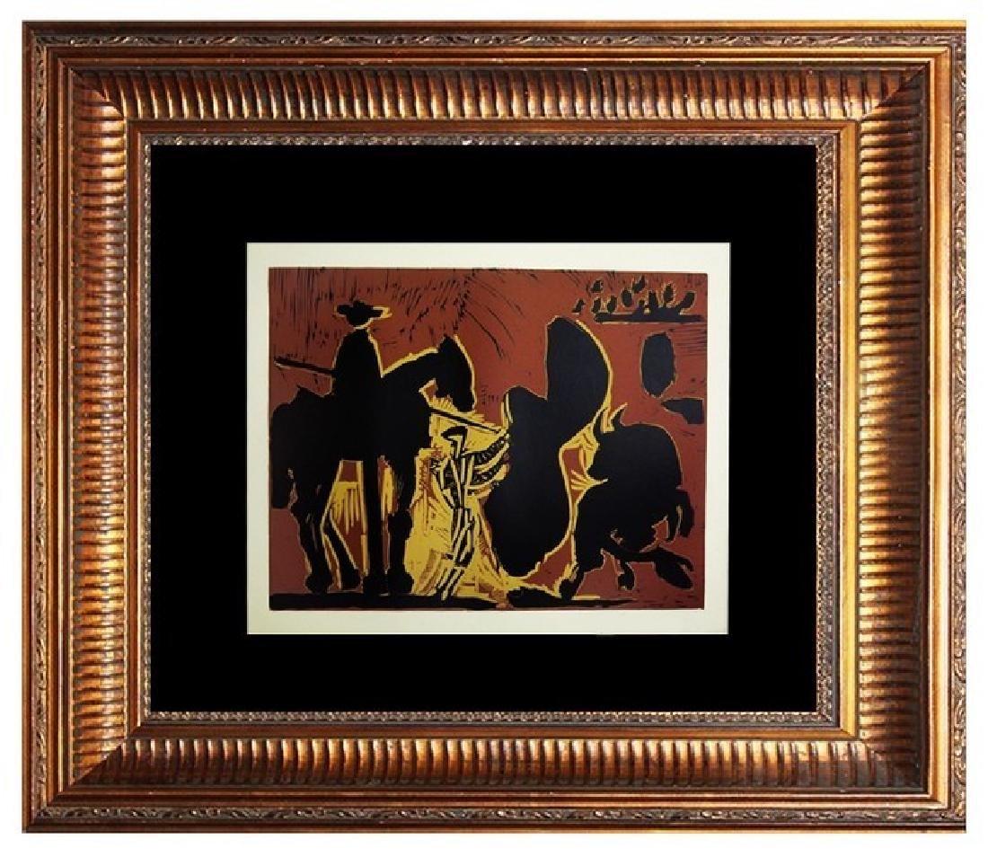 Signed Picasso Linocut Avant le Pique