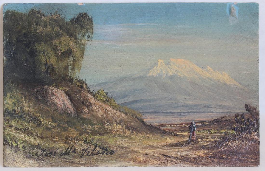 Postcard Painting by Jose Maria Velasco